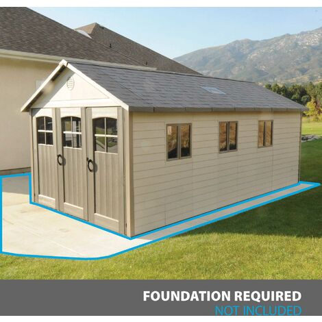 Lifetime 11 Ft. x 21 Ft. Outdoor Storage Shed - Tan