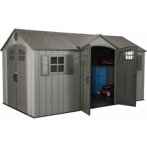 Lifetime 15 Ft x 8 Ft Outdoor Storage Shed - Brown