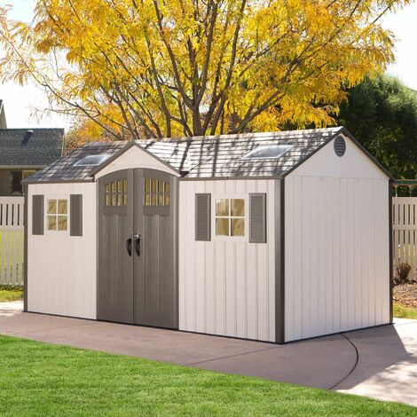 Lifetime 15 Ft. x 8 Ft. Outdoor Storage Shed - Tan