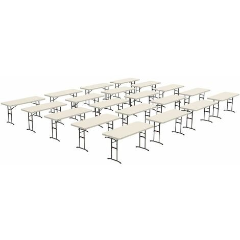 Lifetime 20 Pack 6-Foot Adjustable Height Table Combo (Commercial)