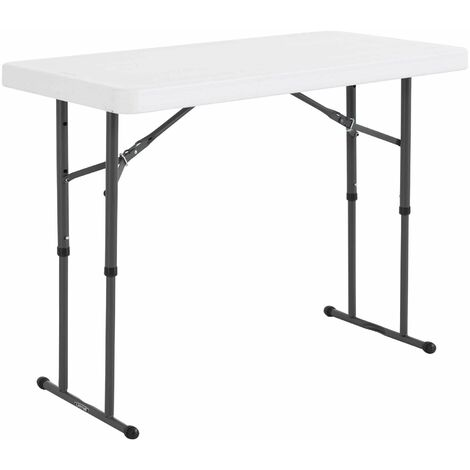 Lifetime 4-Foot Adjustable Height Table (Commercial) - White Granite