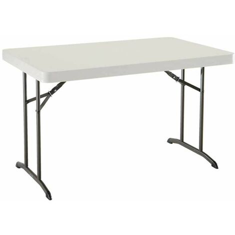 Lifetime 4-Foot Folding Table (Commercial) - Almond