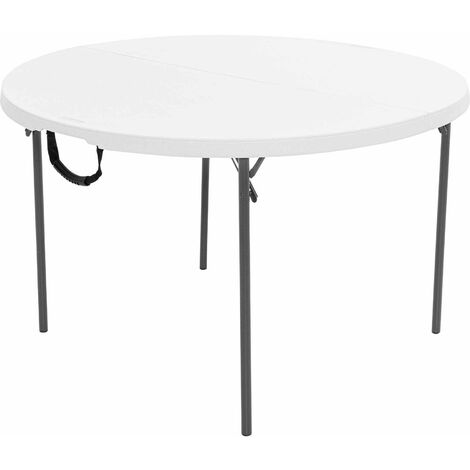 Lifetime 48-Inch Round Fold-In-Half Table (Light Commercial) - White