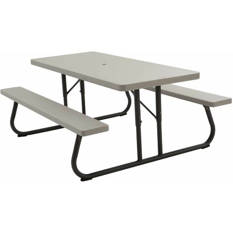 Lifetime 6-Foot Classic Folding Picnic Table - Putty