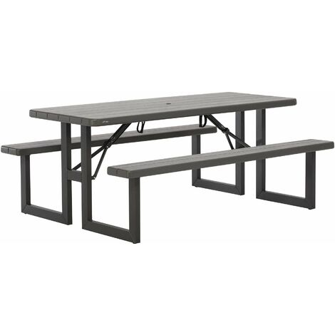 Lifetime 6-Foot Craftsman Folding Picnic Table - Brown