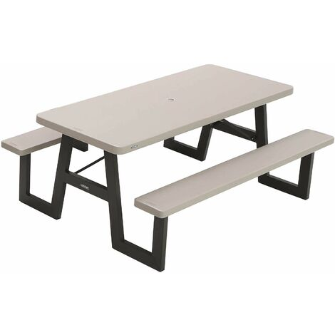 Lifetime 6-Foot W-Frame Folding Picnic Table - Putty