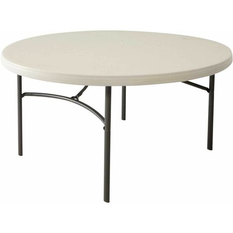 Lifetime 60-Inch Round Table (Commercial) - Almond