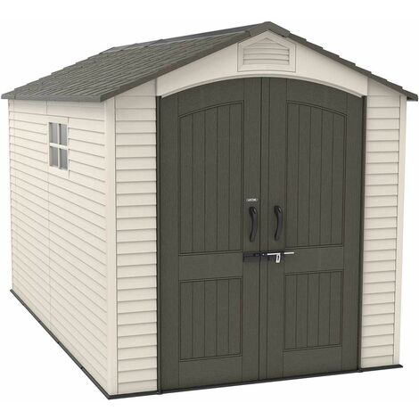 Lifetime 7 Ft. x 12 Ft. Outdoor Storage Shed - Tan