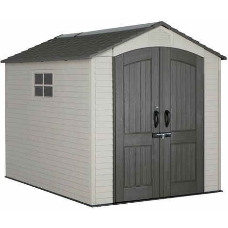 Lifetime 7 Ft. x 9.5 Ft. Outdoor Storage Shed - Tan