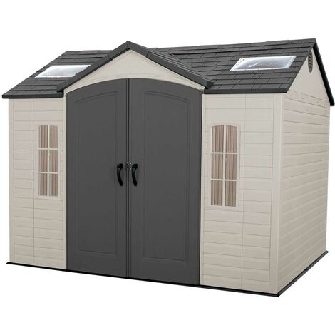 Lifetime 10 Ft. x 8 Ft. Outdoor Storage Shed - Tan