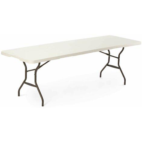 Lifetime 8-Foot Fold-In-Half Table (Light Commercial) - White Granite