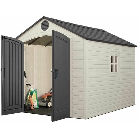 Lifetime 8 Ft. x 10 Ft. Outdoor Storage Shed - Brown