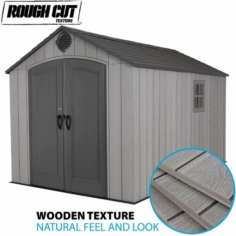 Lifetime 8 Ft. x 12.5 Ft. Outdoor Storage Shed - Storm Dust