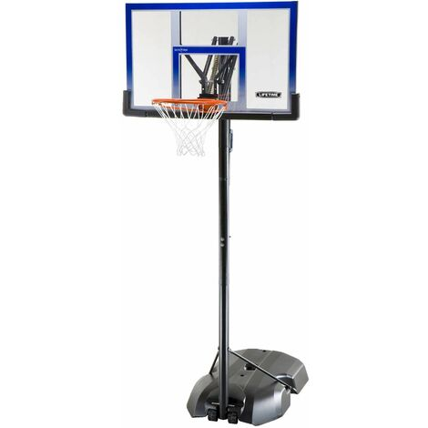 Lifetime Adjustable Portable Basketball Hoop (48-Inch Polycarbonate) - Blue