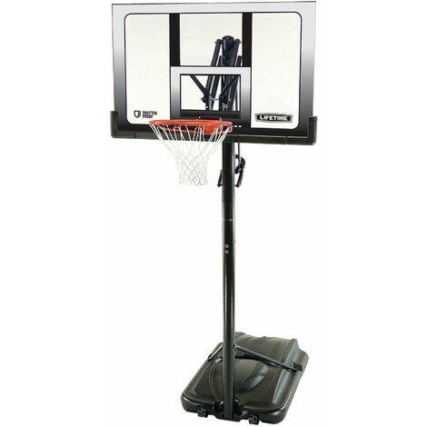 Lifetime Adjustable Portable Basketball Hoop (52-Inch Polycarbonate) - Black