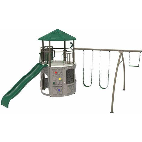 "main image of ""Lifetime Adventure Tower Playset (earthtone) - Green/Tan"""