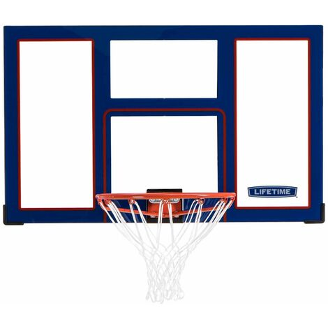 Lifetime Basketball Backboard and Rim Combo (48-Inch Polycarbonate) - Blue