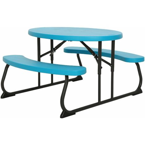 Lifetime Childrens Oval Picnic Table - Glacier Blue