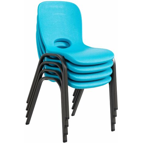 """main image of """"Lifetime Childrens Stacking Chair - 4 Pk (Essential) - Blue"""""""