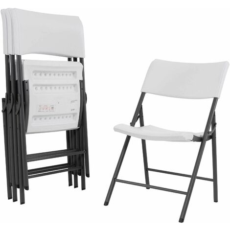 Lifetime Folding Chair - 4 Pk (Light Commercial) - White Granite