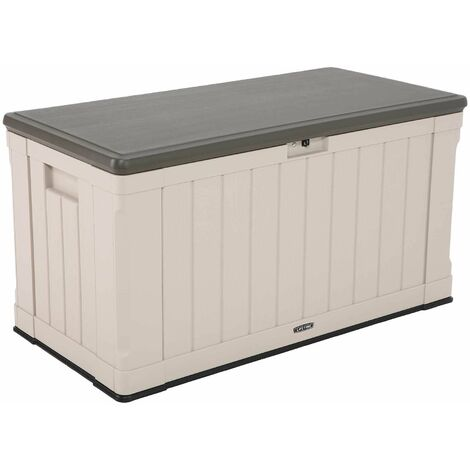 Lifetime Heavy-Duty Outdoor Storage Deck Box (116 Gallon) - Tan