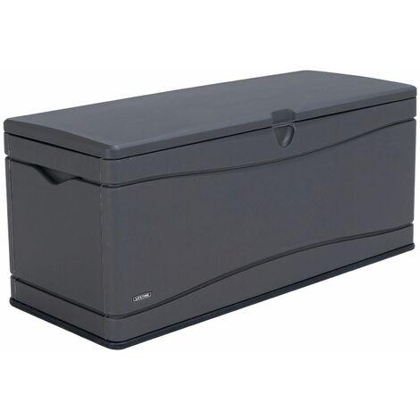 Lifetime Heavy-Duty Outdoor Storage Deck Box (130 Gallon), Grey