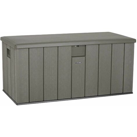 Lifetime Heavy-Duty Outdoor Storage Deck Box (150 Gallon) - Roof Brown