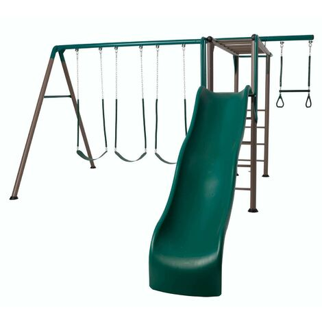 Lifetime Monkey Bar Adventure Swing Set (Earthtone) - Green