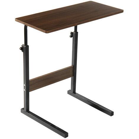 Lifting Adjustable Laptop Desk Foldable Computer Table 58x28x(56-81)cm black oak