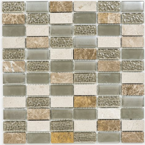 Light Beige Linear 300x300mm Mosaic Sheet