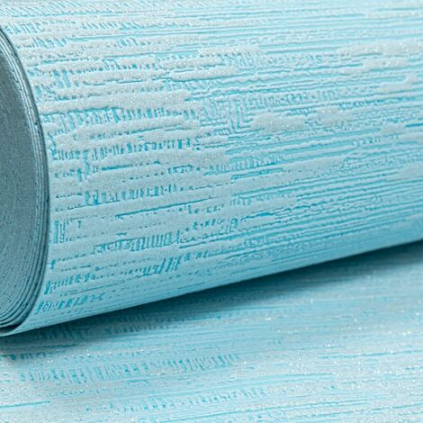 Light Blue Embossed Textured Silver Glitter Thick Vinyl Paste the Wallpaper