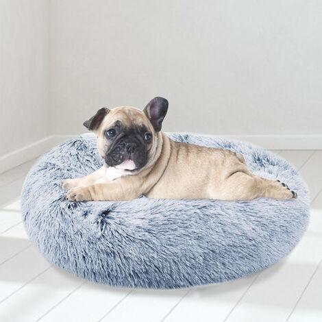 Light Blue Pet Bed Shaggy Warm Fur Fluffy Dog Nest Cat Pad Cushion Mat