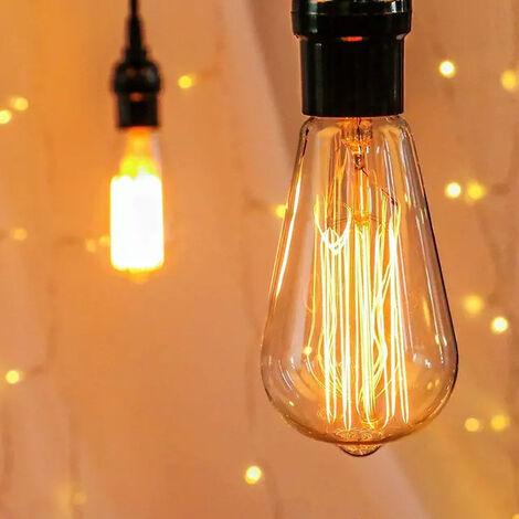 "main image of ""Light bulb, E27 retro bulb ST64 retro incandescent lamp, suitable for restaurants, cafes, windows, showrooms, incandescent bulbs, decorative bulbs"""