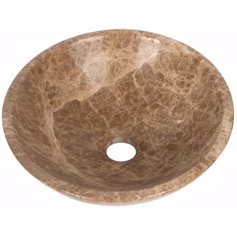 Light Emperador Marble Wash Basin Bowl Bathroom 350mm diameter (B0052)