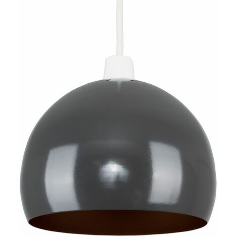 Light Shades Ceiling Pendant Lampshades Metal Various Colours - Grey