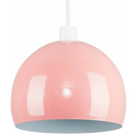 Light Shades Ceiling Pendant Lampshades Metal Various Colours - Pink