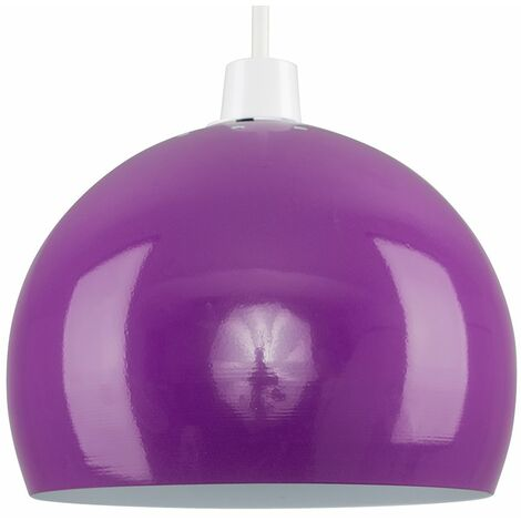 Light Shades Ceiling Pendant Lampshades Metal Various Colours - Purple