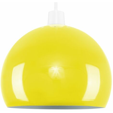 Light Shades Ceiling Pendant Lampshades Metal Various Colours - Yellow