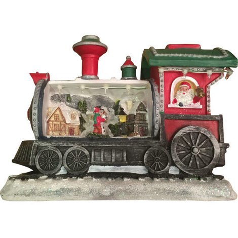 Light Up Christmas Character Train with Revolving Characters