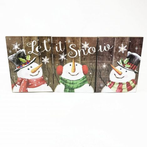 "Light Up Folding Christmas Decoration ""Let It Snow"""