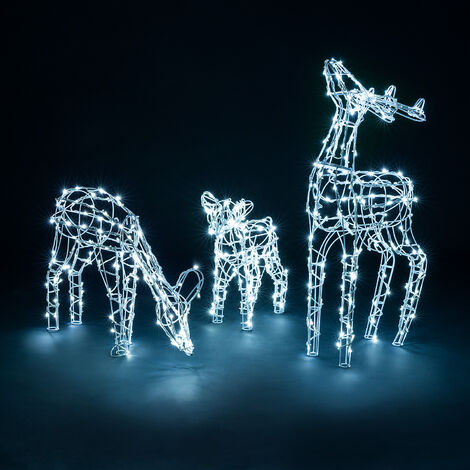 Light Up Wire Reindeer Family