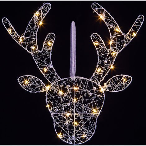 Light-Up Wire Reindeer with Beads