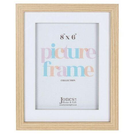 Light Wood Effect Box Frame (8 x 6inch) (Brown)