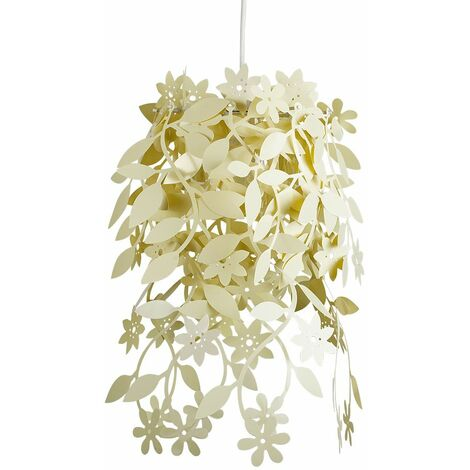 Light Yellow Cream Floral Chandelier Ceiling Pendant Light Shade