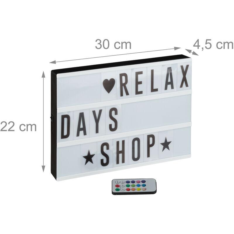 Symbolen Light-Box Leuchtkasten A3 mit 85 Buchstaben batteriebetrieben