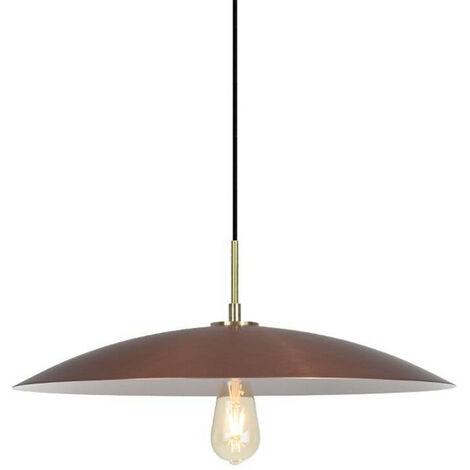 Lightbulbs Direct Large Dish Pendant ES-E27 55cm Copper Lamp Shade