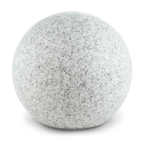 Lightcraft Shinestone XL lámpara de bola exterior jardín 50 cm simula piedra