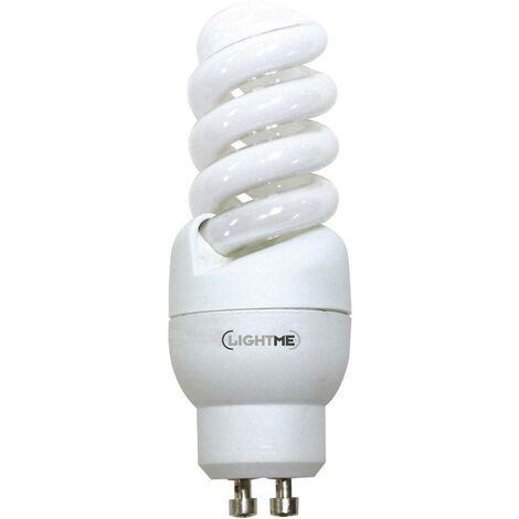 LightMe Ampoule à économie dénergie EEC: A (A++ - E) GU10 93 mm 230 V 9 W = 39 W blanc chaud forme spiralée 1 pc(s)