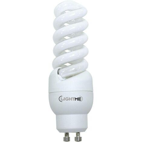 LightMe Ampoule à économie dénergie EEC: A (A++ - E) GU10 99 mm 230 V 11 W = 46 W blanc chaud forme spiralée 1 pc(s)