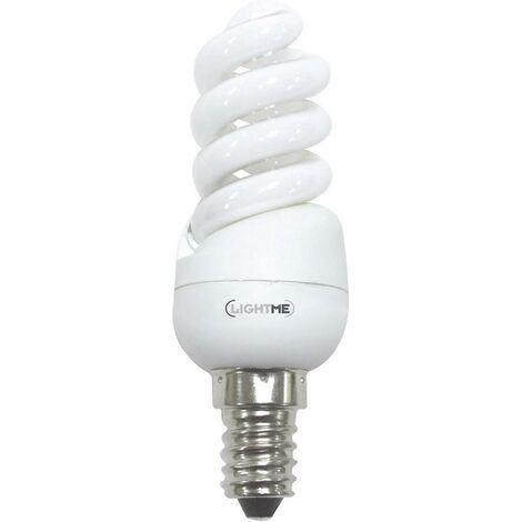 LightMe Energiesparlampe EEK: A (A++ - E) E14 95mm 230V 8W = 39W Warmweiß Spiralform 1St. S46023